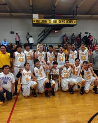 Cherokee Middle School boys basketball team