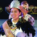 Taran Swimmer being crowned Miss Cherokee