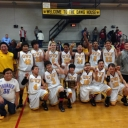 Cherokee Middle School boys basketball team