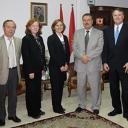 Sara Zimmerman and colleagues in Kurdistan meeting with representatives from Salahaddin University-Erbil during a 2009 trip.