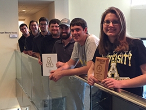 ASU's Technology and Engineering Education Collegiate Association members with awards
