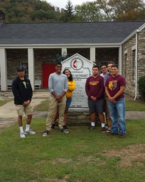 Gaduga Scholars at Cherokee United Methodist mission